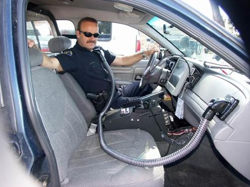 Busting criminals is a hot job and personalized air conditioning is the perfect solution.